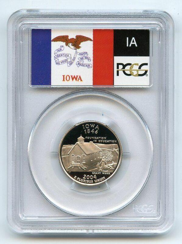 2004 S 25C Clad Iowa Quarter PCGS PR70DCAM