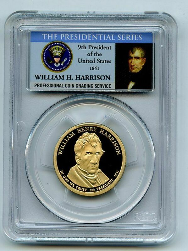 2009 S $1 William Henry Harrison Dollar PCGS PR70DCAM
