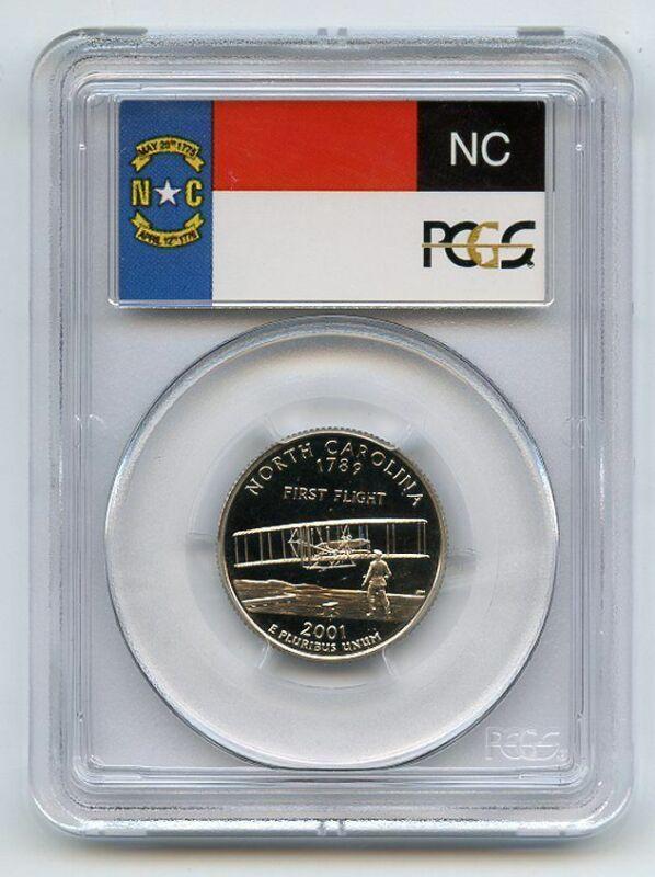2001 S 25C Clad North Carolina Quarter PCGS PR70DCAM