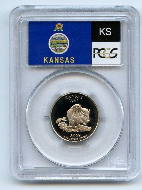 2005 S 25C Clad Kansas Quarter PCGS PR69DCAM