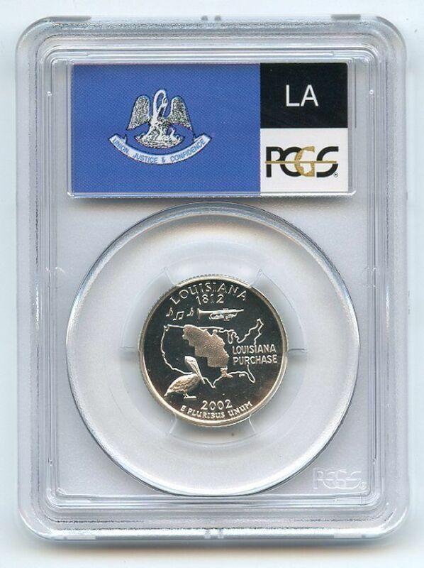 2002 S 25C Silver Louisiana Quarter PCGS PR69DCAM