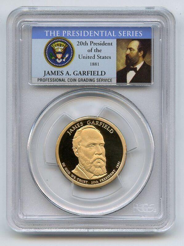 2011 S $1 James Garfield Dollar PCGS PR70DCAM