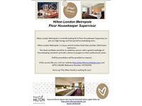 Floor Housekeeper Supervisor - Hilton London Metropole