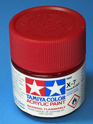 Tamiya GLOSS  RED Acrylic Hobby Model Paint Acrylic X7  23ml 81007 X-7