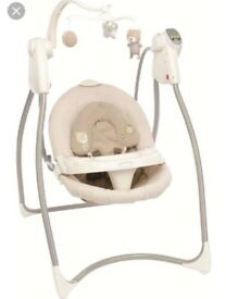 Electric baby swing