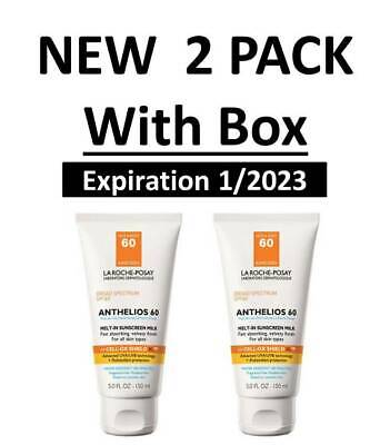 La Roche Posay Anthelios 60 Melt-In Sunscreen Milk Lotion 5.0 fl. oz. (2 PACK)