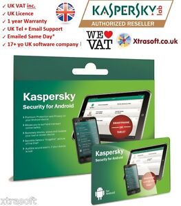 Kaspersky Internet Security for ANDROID Phone/Tablet 2017  Emailed SAME day*