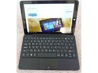 Windows (Linx 10) PC / tablet – with detachable keyboard. Quad-core processor. 2GB Ram, 32GB SSD.