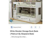 Storage bunk bed with 1 mattress