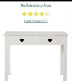 Brand new in box Argos Mia heart white desk