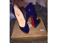 Christian laboution lady peep heels