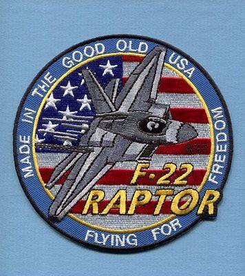 LOCKHEED MARTIN F-22 RAPTOR USAF Fighter Squadron Jacket Patch