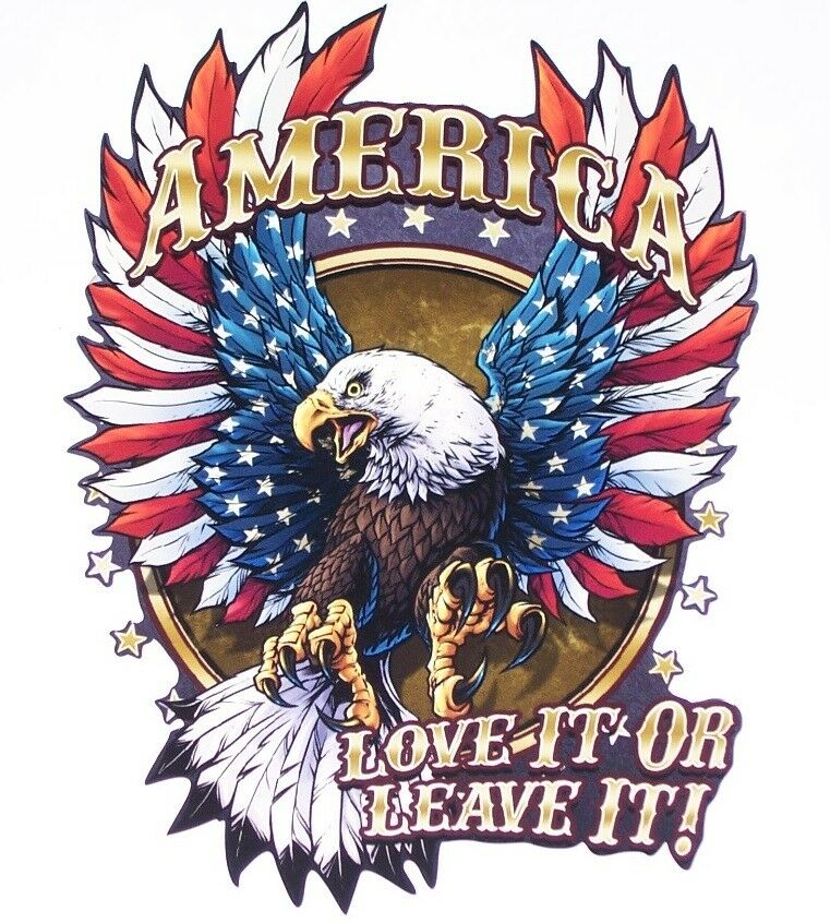 American Flag Eagle Love it or Leave decal Camper Truck Window Sticker decals