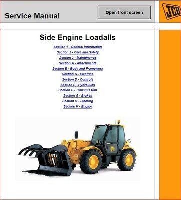 Jcb Loadall 530 532 535 537 540 Service Repair Manual - Cd See Video