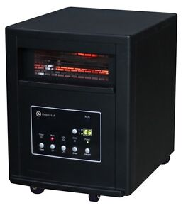 Homegear 1800 Sq. Ft Infrared Electric Portable Heater with Remote Control Black
