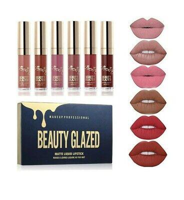 Confezione Regalo Make Up professional beauty Glazed rossetti mat 6 pezzi