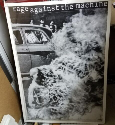 RAGE AGAINST THE MACHINE POSTER NEW  2001 RARE VINTAGE COLLECTIBLE OOP LIVE