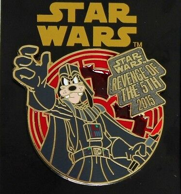 Disney Parks Star Wars Darth Vader Goofy Revenge Of The 5th 2015 LR Pin