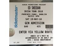 2x Ed Sheeran tickets, Dublin 19th May - face value