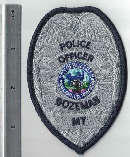Bozeman Police Officer blue border MT Montana Police Patch