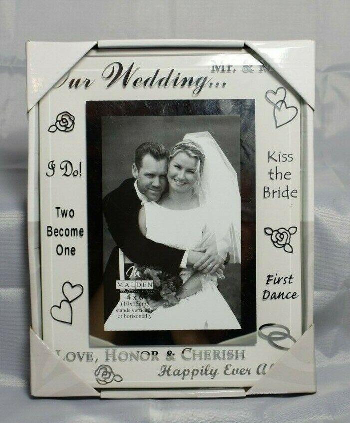Malden International Designs Wedding 4X6 Picture Frame, NIB