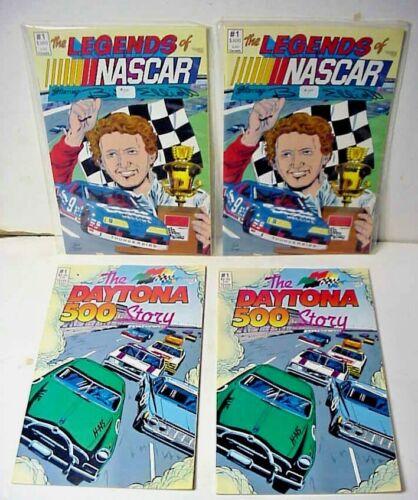 The Legends of NASCAR - Bill Elliott & The Daytona 500 Story Comic Books -2 Each