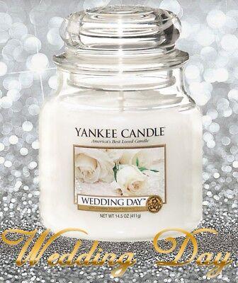 Yankee Candle WEDDING DAY Medium 14.5 Oz Classic Jar ⭐ WHITE LABEL ⭐ NEW