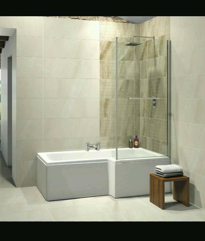 L Shape Bath and Panel Brand New