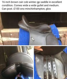 Wintec changeable gullet 16inch brown saddle excellent condition