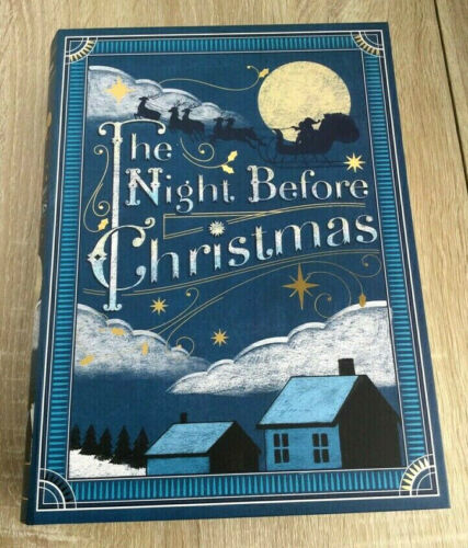 """Holiday Large Faux Book Storage Gift BoxThe Night Before Christmas 11"""" x 8.5""""❄️"""