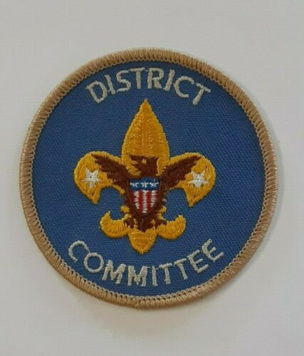 BSA Vintage District Committee Insignia Badge 1970-1973