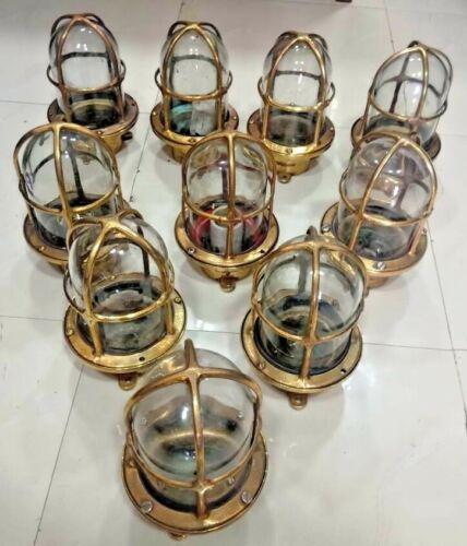 Vintage nautical marine ship Brass passage light 10 pieces 100% original