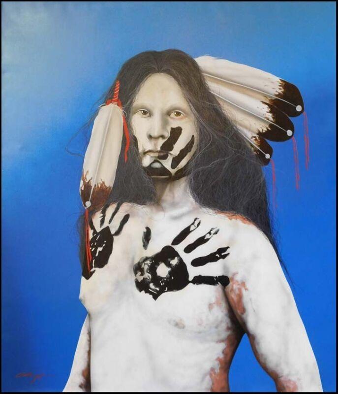 "J.d Challenger ""black Hand"" Original Oil Painting  Hand Signed Make An Offer!"