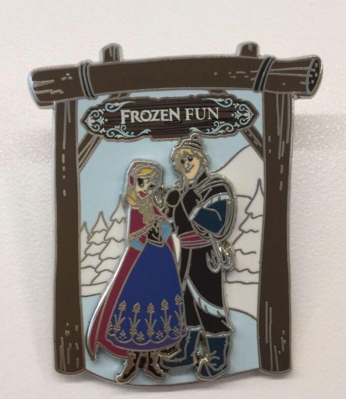 Disney Pin Disneyland Paris Frozen Fun Pin Trading Event Anna Kristoff Pin Rare