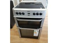 Beko Double oven electric cooker 60cm width.3 months warranty