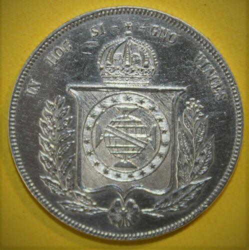Brazil 1000 Reis 1859 Uncirculated Silver Coin - Brasil