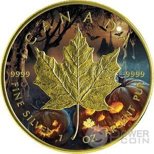 HALLOWEEN MAPLE LEAF 1 Oz Silver Coin 5$ Canada 2016 - Italia - HALLOWEEN MAPLE LEAF 1 Oz Silver Coin 5$ Canada 2016 - Italia