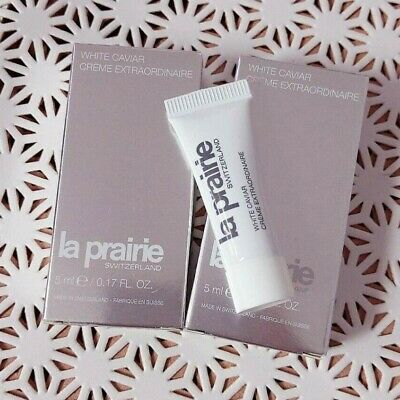 2 LA PRAIRIE White Caviar Creme Extraordinaire , travel size 5 ml / 0.17oz *2