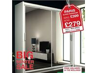 "FULL MIRRORED 2 DOOR SLIDING WARDROBE ""VENICE"" !!! FAST & FREE DELIVERY !!!"