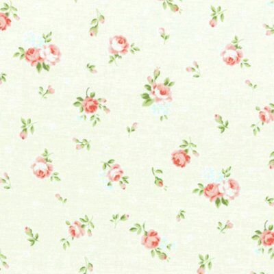 Bungalow Shabby Chic Lecien Princess Rose Small Roses Fabric 31267L-10 Cream BTY
