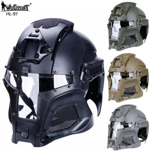 WoSport Tactical Airsoft Paintball Ballistic Helmet Iron warrior samurai Mask