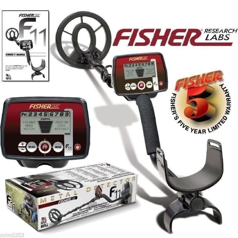 "Fisher F11 Metal Detector with 7"" Waterproof Coil & 5 Year Warranty"