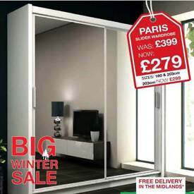 HUGE WINTER SALE !!! BRAND NEW MIRRORED WARDROBE NOW ONLY £279