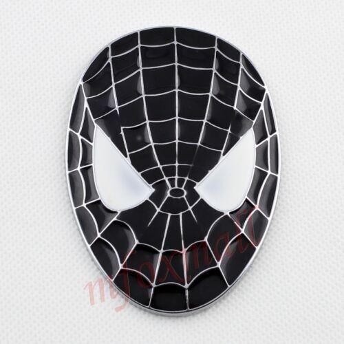 Vehcile Motor Accessory Black 3D Spider Man Mask Emblem Badge Sticker Decal Trim