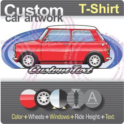 Custom T-shirt for Austin 850 Mini Cooper Morris Mascot Minor Magic Rover S K-7 ()