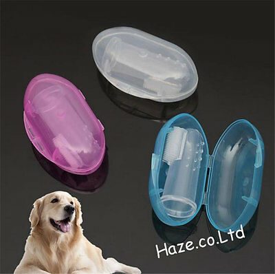 1pc Soft Finger Toothbrush Pet Dog Oral Dental Cleaning Teeth Hygiene Brush Hot
