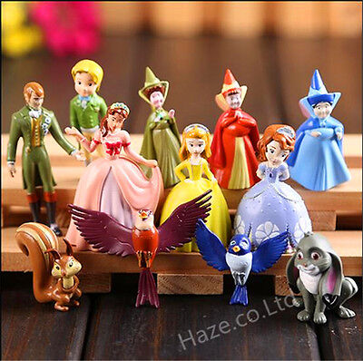 12pcs/set Sofia the First Princess Figurines Sophia Cake Topper Figures Toy
