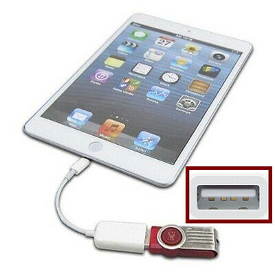 Camera Connection Cable (Camera Connection Kit to USB Host OTG Cable Adapter Reader For iPad 4 iPad)
