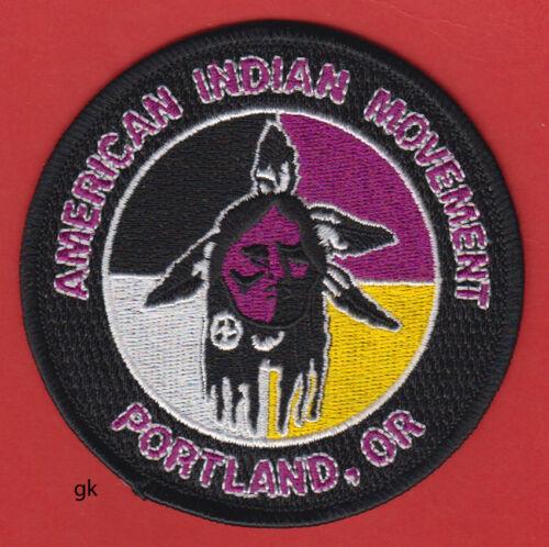 AIM AMERICAN INDIAN MOVEMENT  PORTLAND, OREGON TRIBAL PATCH