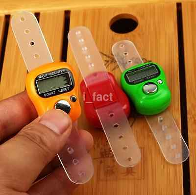 Small Digit LCD Electronic Digital Golf Finger Hand Held Tally Row Counter Hot